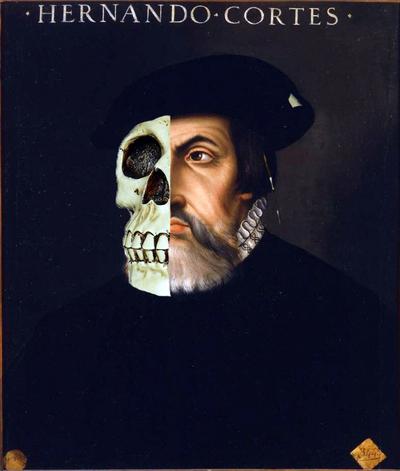 Hernán Cortés, El señor de las tinieblas. Montaje Carlos de Urabá..jpg