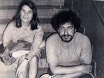 León Canales junto ala hermana del Che Guevara, Celia. Madrid, 1978.JPG