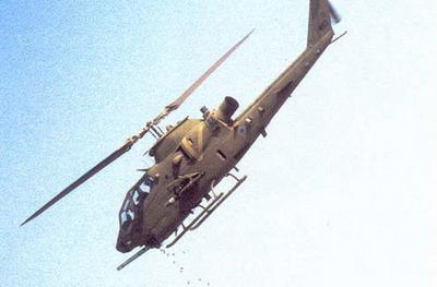 An Israeli Cobra helicopter firing from the sky..jpg