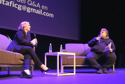 Conferencia de Guillermo del Toro y Melissa Gibb -Vicepresidenta de Netflix- en el marco de la FICG 2019. Foto Carlos de Urabá..JPG