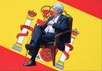 Vargas llosa España nos dio la vida, la lengua, la civilización. Montaje Yuma..JPG