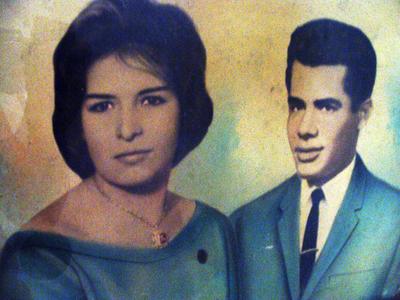 Evangelina y Mohamed Mustafa dias despues de su boda..JPG