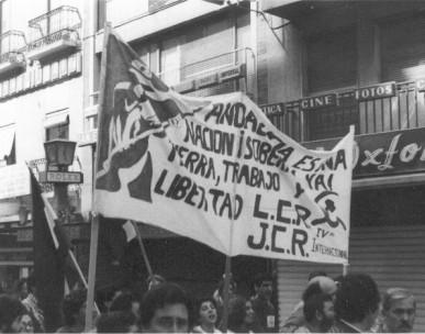 Andalucia cortejo LCR mani Granada 1985.jpg