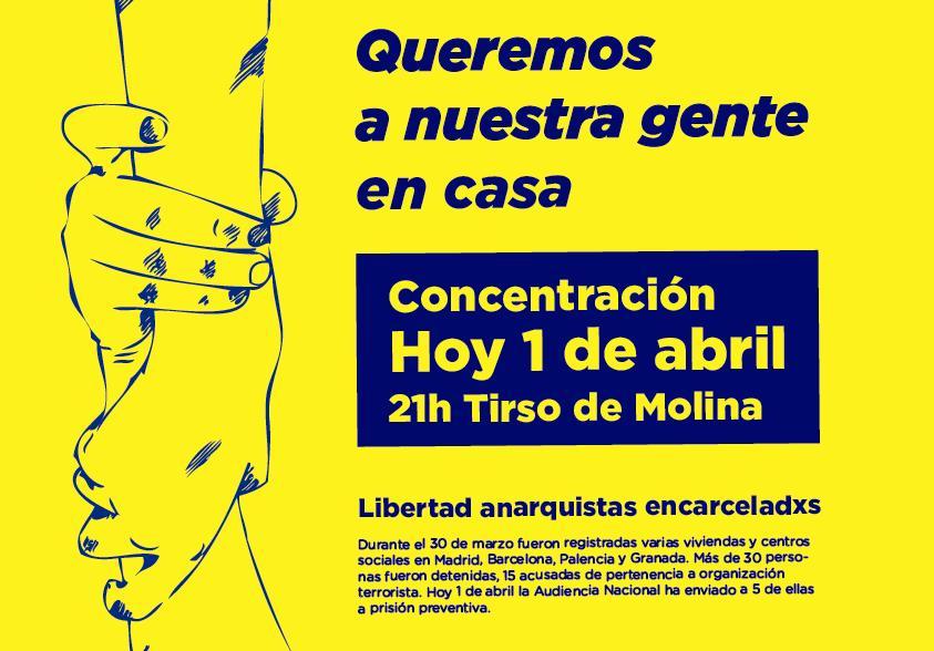 Madrid concentraci n 21h tirso de molina queremos a for Casa granada tirso de molina