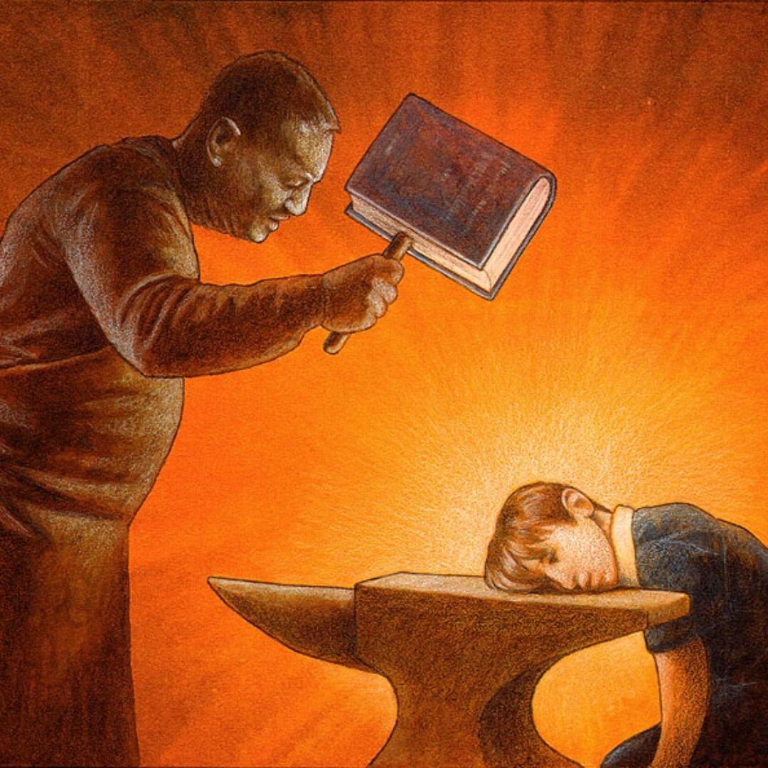 educacion aplastada (pawel kuczynski).jpg