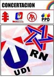 Chilenos rechazan a la concertacion y el pinochetismo.JPG