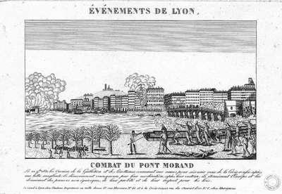 Los sucesos de Lyon, 22 de noviembre de 1831. Combate del Puente Morand.jpg