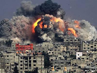 Bombardeos sionistas sobre GAZA..jpg