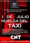 cartel 1 de julio huelga taxi gotic.jpg