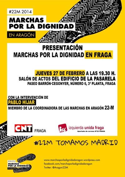 Cartel Marchas por la Dignidad 22 M, presentación en Fraga.jpg