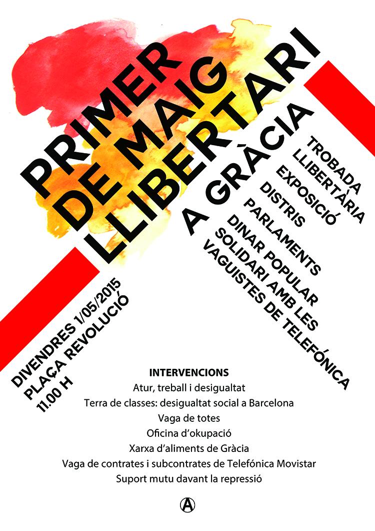 Primer de maig llibertari a gr cia indymedia barcelona for Oficina treball barcelona