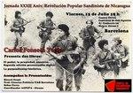 Cartel 15 de Julio  presentación libro Carlos Fonseca terán comite solidaridad sandinista Casa barcelona Sandino.jpg