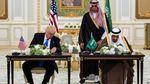 El rey saudita Salman bin Abdulaziz Al Saud junto al presidente de los Estados Unidos,.jpg